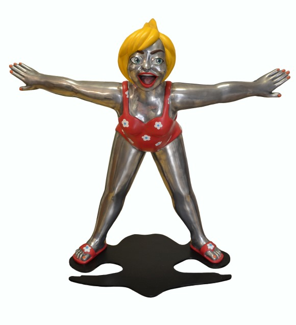 YOUN CHO Korean Artist Painted Aluminium Sculpture