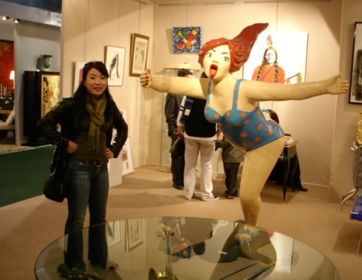 YOUN CHO Korean Artist at Antibes