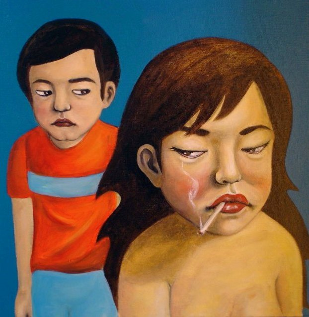 YOUN CHO Korean Artist Oil on Canvas Painting